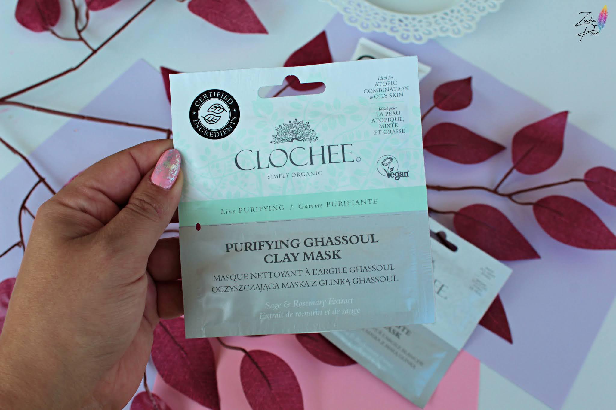 Clochee, Purifying Ghassoul Clay Mask - Oczyszczająca maska z glinką ghassoul