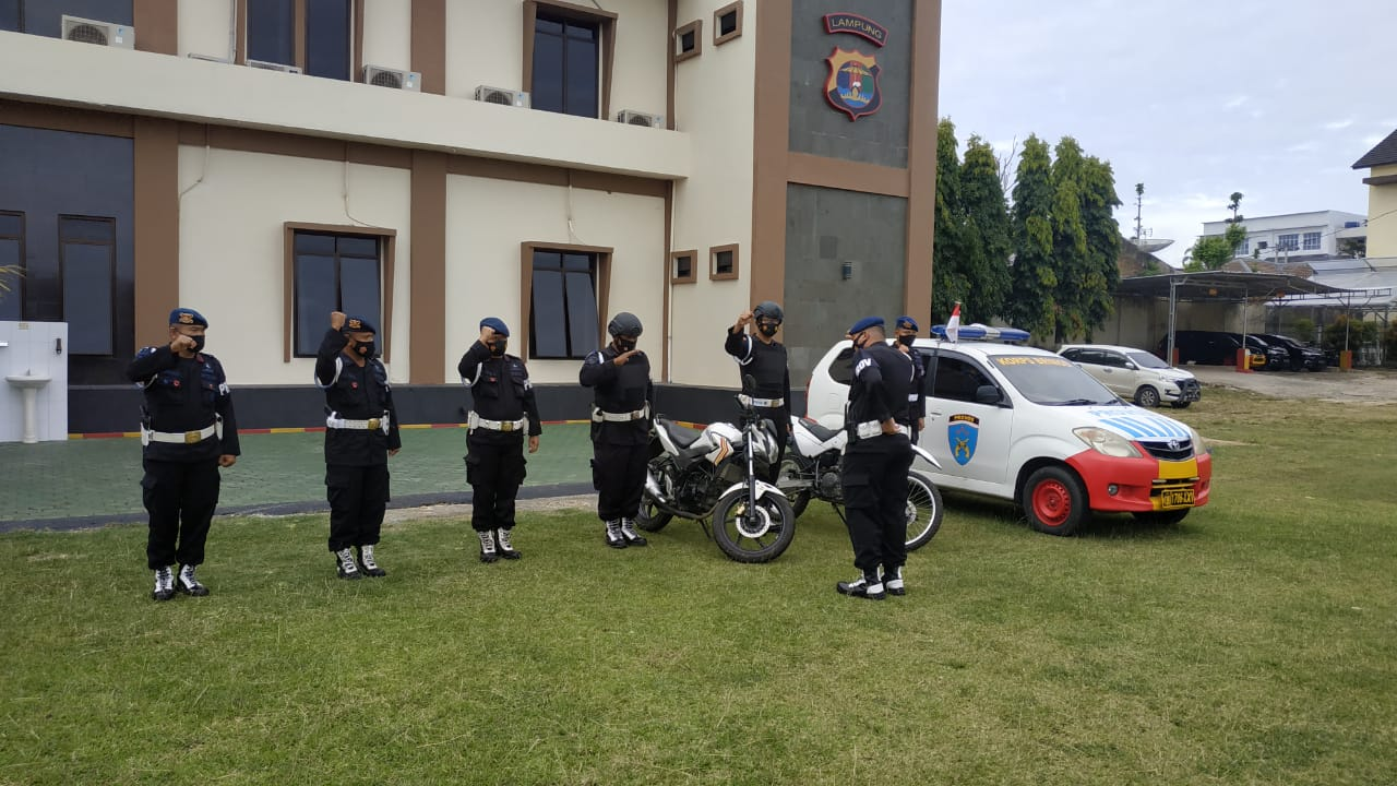 Provos Brimob Lampung Patroli Quick Wins Kegiatan 6