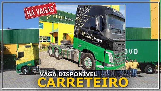 Transportadora Brasil novo abre vagas para Motorista