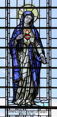 Imagem do Imaculado Coração de Maria, Vitral, #1