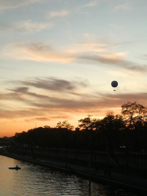 zachód słońca w Krakowie