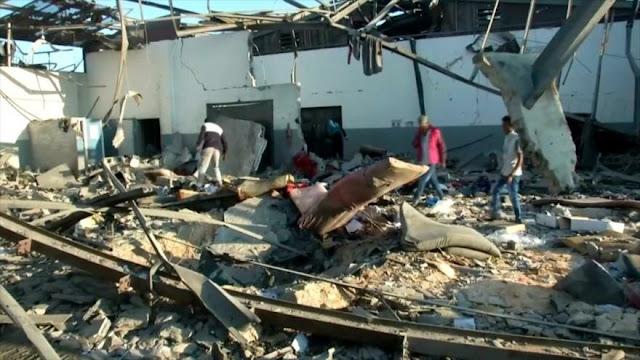 ONU denuncia el bombardeo contra centro de migrantes en Libia