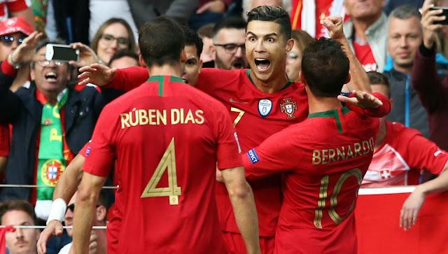 Portugal Cristiano Ronaldo and Bernardo Silva