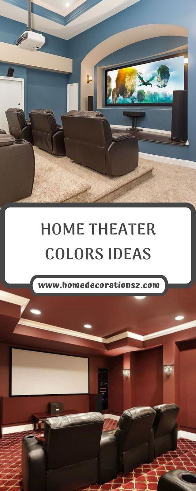 HOME THEATER COLORS IDEAS