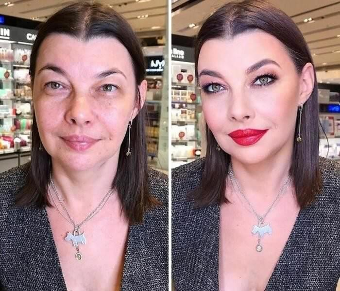 Before And After Photos From A Talented Makeup Artist Lena Motinova