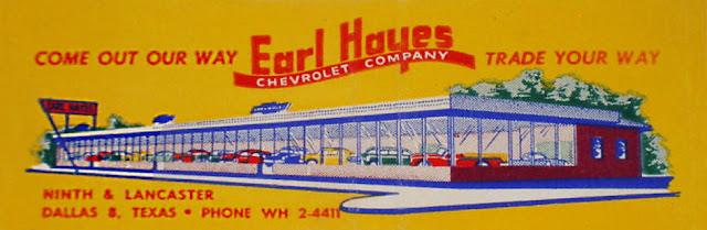 Oak Cliff Yesterday Earl Hayes Chevrolet