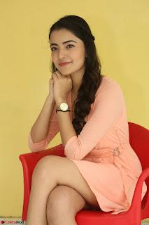 Rukshar Mir in a Peachy Deep Neck Short Dress 080.JPG