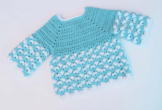 2 - Crochet Imagen Saco,jersey y chambrita a crochet y ganchillo por Majovel Crochet