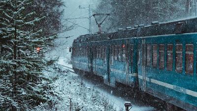 HD Wallpaper Winter, snow, train, forest