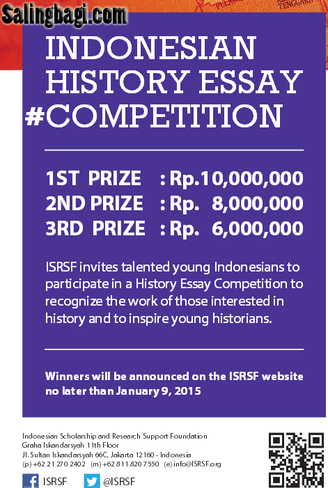 historical essay competition History of the essay competition the rcs has a rich history of nurturing the creative talents of young people around the commonwealth we endeavour to promote.