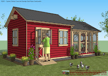 Chicken Co-op with Garden Shed