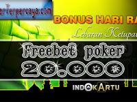 IndoKartu - Freebet Poker IDN 20.000 Gratis Tanpa Deposit