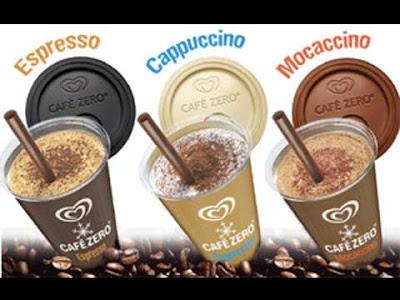 Café Zero della Algida nei tre gusti originali