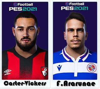 PES 2021 Faces Cameron Carter-Vickers & Felipe Ararunaby Shaft