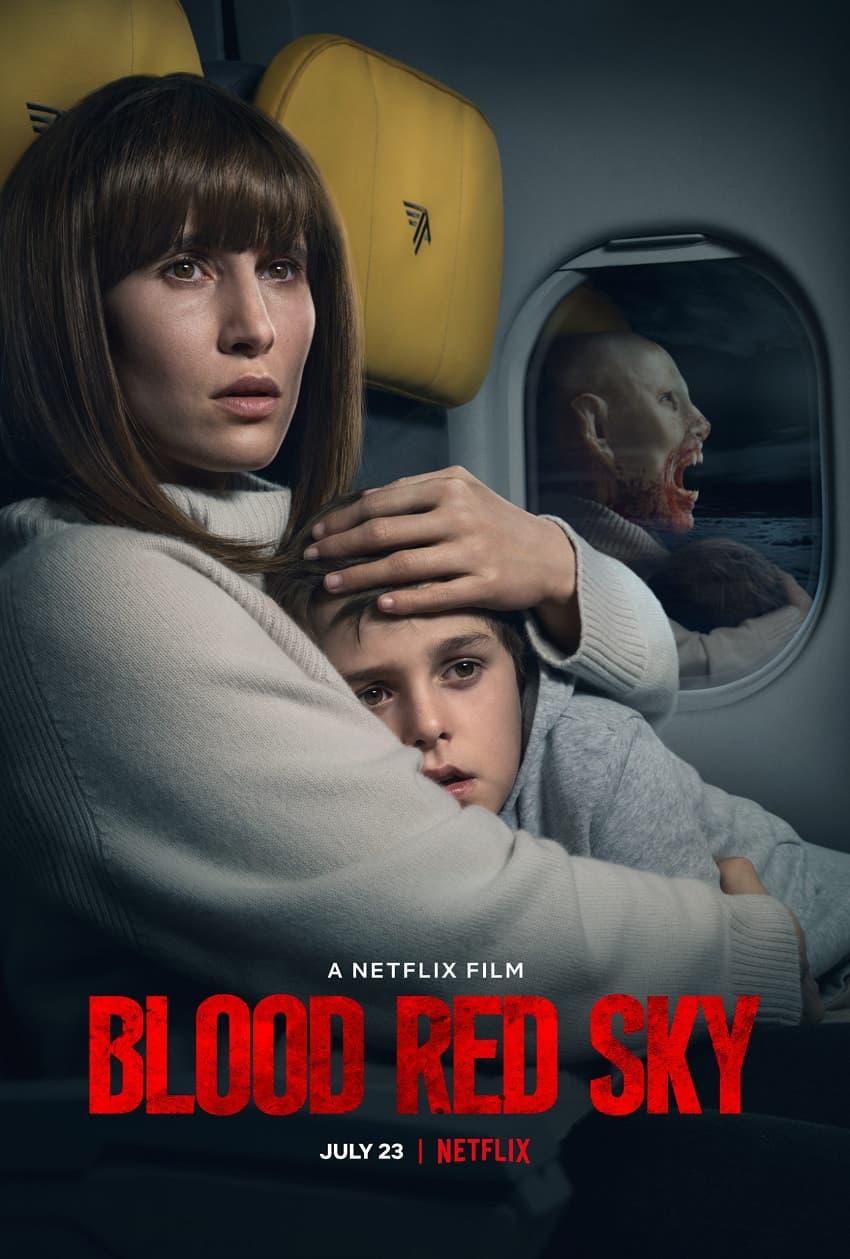 Netflix показал полный трейлер хоррора «Кроваво-красное небо» про вампира в самолёте - Постер