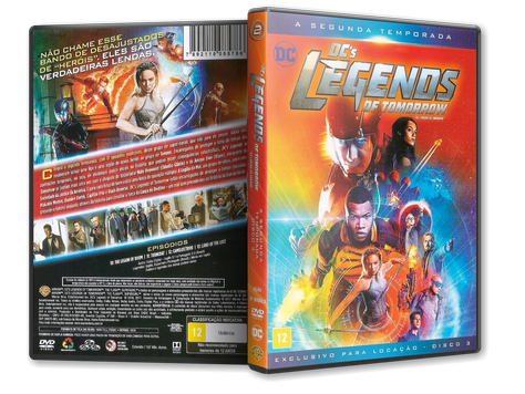 Capa DVD DC's Legends of Tomorrow - Segunda Temporada - Disco 3