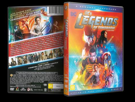 Capa DVD DC's Legends of Tomorrow - Segunda Temporada - Disco 3