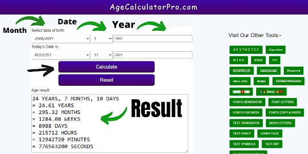 Age Calculator - BEST Online Age Calculator ✔️