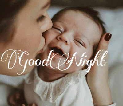 cute baby good night image pics photo share on whatsapp