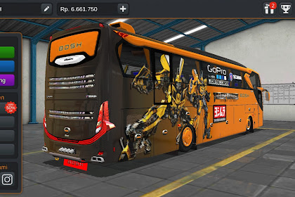 Livery Bussid Mod Bus scania TRANSFORMERS