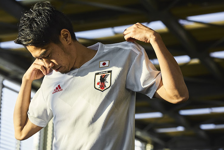 3468c230f The new Adidas Japan 2018 World Cup away kit introduces an understated  design to complement the dark blue home uniform.