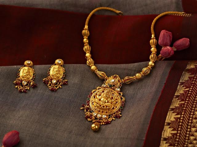 Jewellery Designs : Designer Antique Light Weight ...