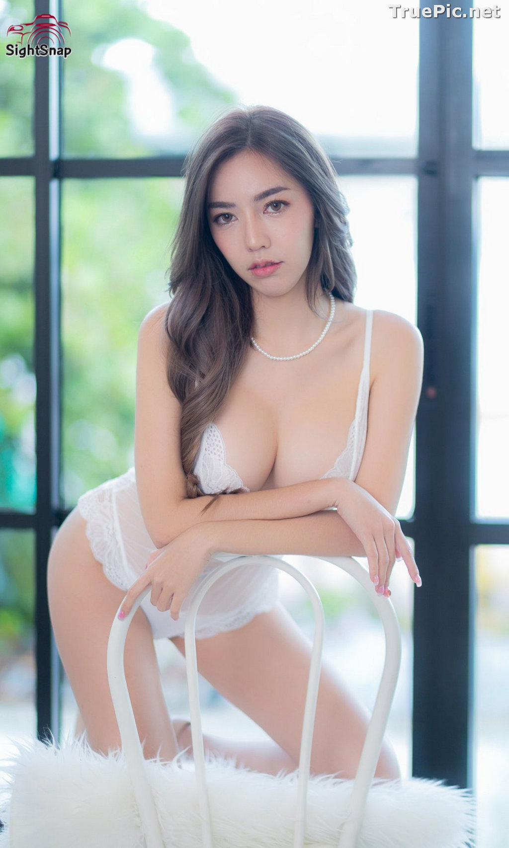 Image Thailand Sexy Model – Champ Phawida - Transparent White Lingerie - TruePic.net - Picture-3