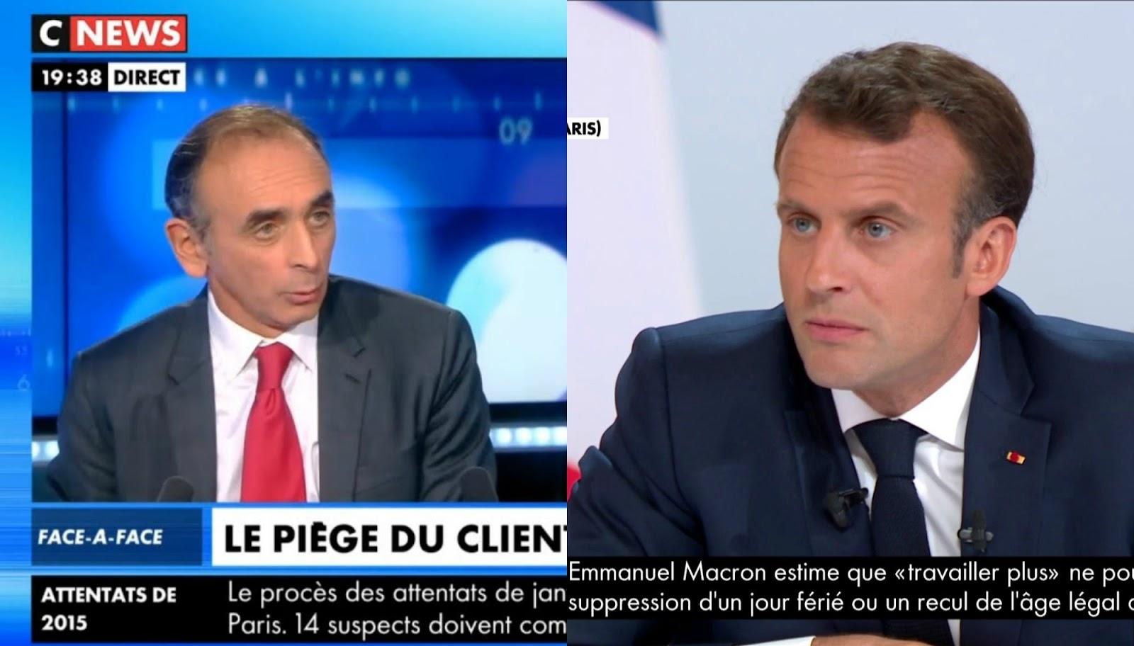 """Débattre face à Éric Zemmour? Emmanuel Macron répond """"pourquoi pas?"""""""