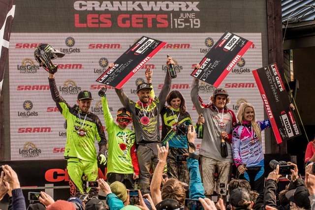 2016 Crankworx Les Gets iXS Downhill Highlights And Results Podium
