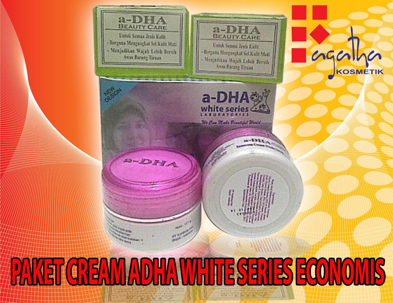 Fagatha Kosmetik Grosir Termurah Dan Terpercaya A Dha Cream Hologram Isi Paket White Series Ekonomis