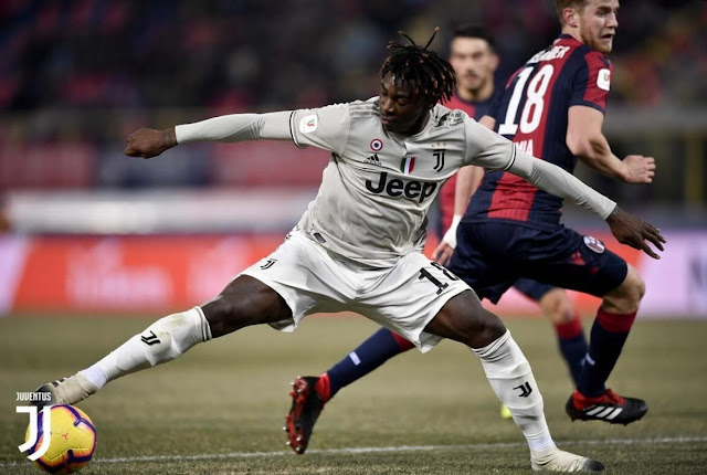 Moise kean cetak gol pertama musim ini