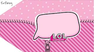 Etiquetas para Regalos de LOL Surprise para Imprimir Gratis.
