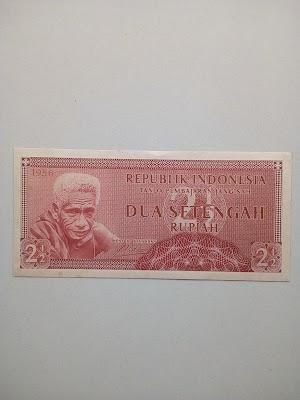 2 1/2 rupiah tahun 1956