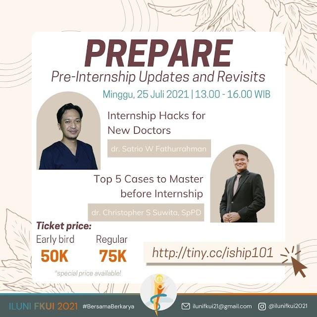 Webinar [PREPARE: Pre-Internship Updates and Revisits]