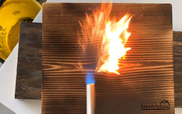 wood burning with Bernzomatic torch