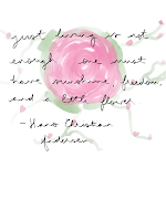 """just living is not enough... one must have sunshine, freedom, and a little flower"" quote on a background of a digital drawing of a rose"