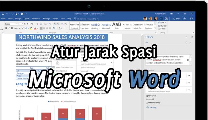 Cara Mengatur Jarak Spasi 1 (Single), 1,5 atau 2 (Double) di Microsoft Word