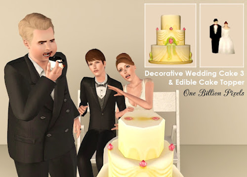 where is the wedding cake in sims 3 generations my sims 3 edible wedding cakes bonus by newone 27146