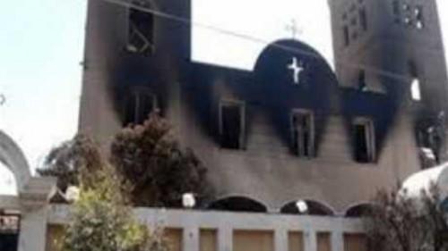 شاهد لحظة النطق بالحكم في قضية حرق كنيسة العذراء بكرداسة