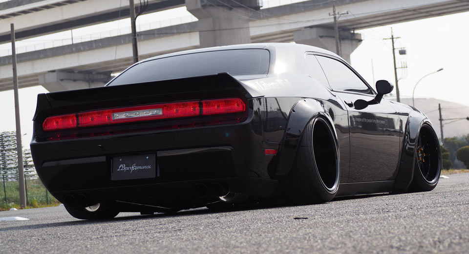 dodge challenger looks even wider with liberty walk conversion. Cars Review. Best American Auto & Cars Review
