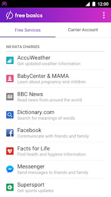 Free Basics by Facebook Interface
