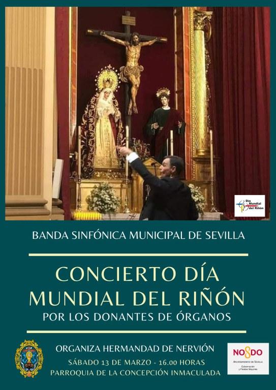 Hoy concierto de La Banda Sinfónica Municipal de Sevilla por los donantes de órganos