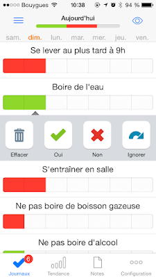 Capture d'écran de l'application Way of Life