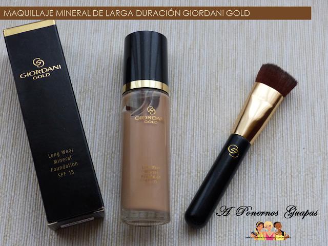 Maquillaje mineral de larga duración Giordani Gold