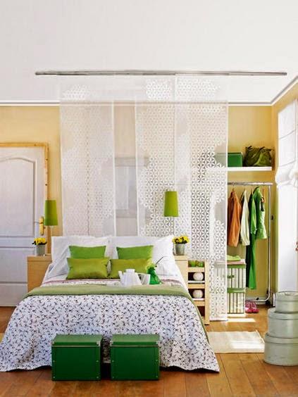 Closet com cortinas