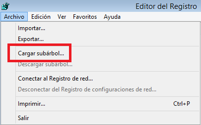 Windows: Editar registro offline