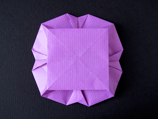 Origami Piatto a fiore, retro - Flower Dish, back, Francesco Guarnieri