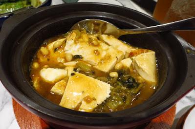 Kai Duck, braised tofu mustard greens