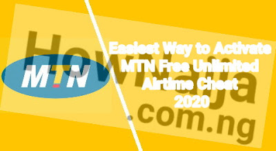 Easiest Way to Activate MTN Free Unlimited Airtime Cheat 2020