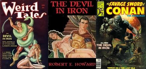 Robert E. Howard A vasördög régi megjelenések